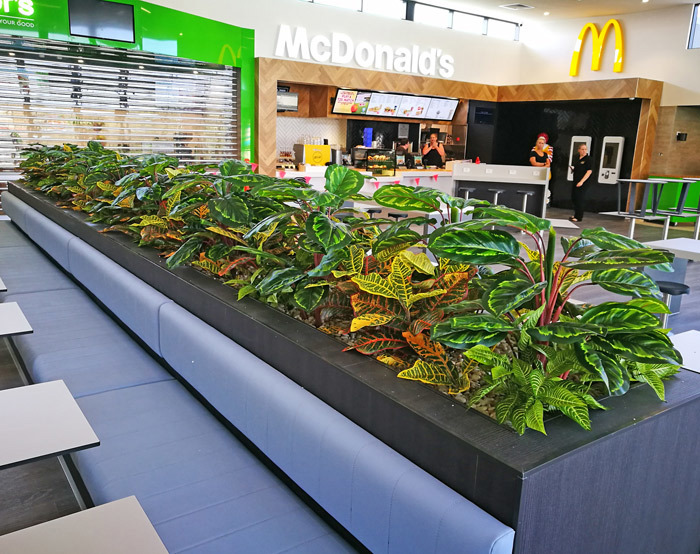 Planter-Box for fast-food mall