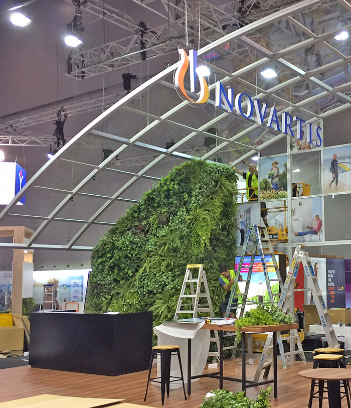 Green Walls- demountable panels for exhibition display