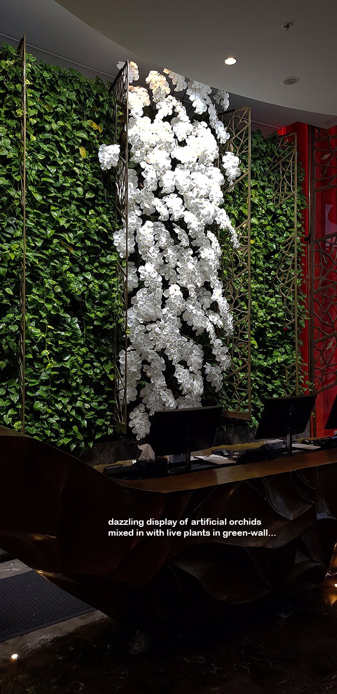 adding artificials to enhance 'live' green-walls- 24/7 wow!