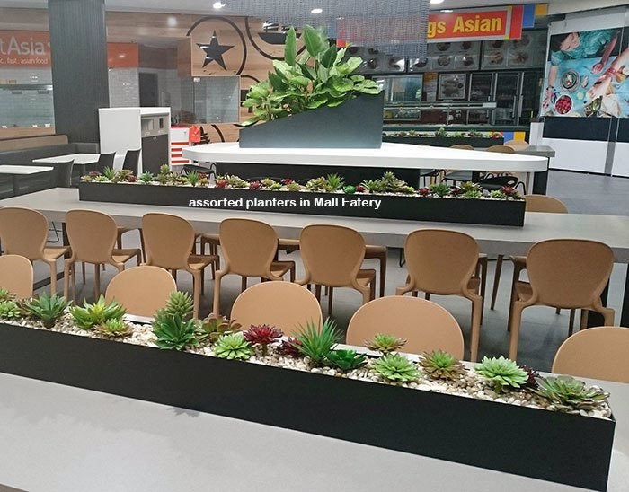Table-Planters in Mall Eatery...