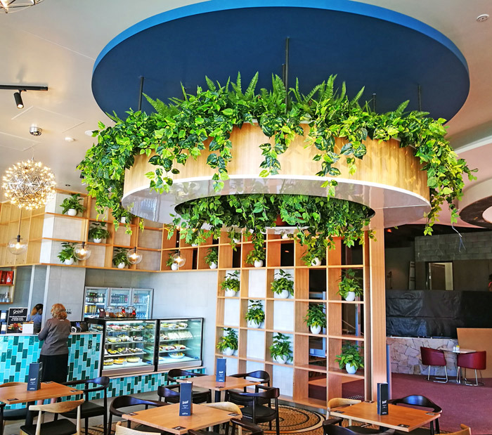 Raised Planter & Green-Wall in Club Foyer