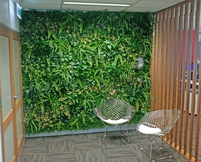 Office Entry Revamped with Green-Wall