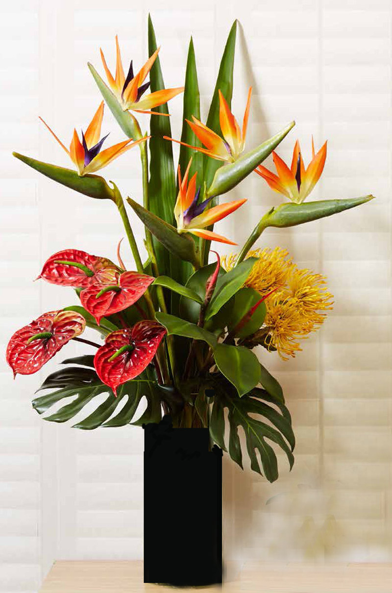 Articial Plants - Floral- Birds with Anthuriums