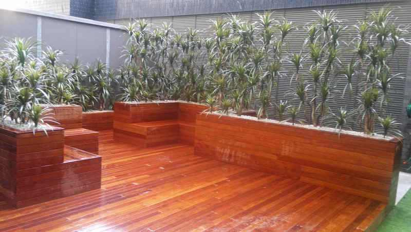 Deck Planters in Office Tower
