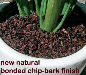 bonded natural chip-bark
