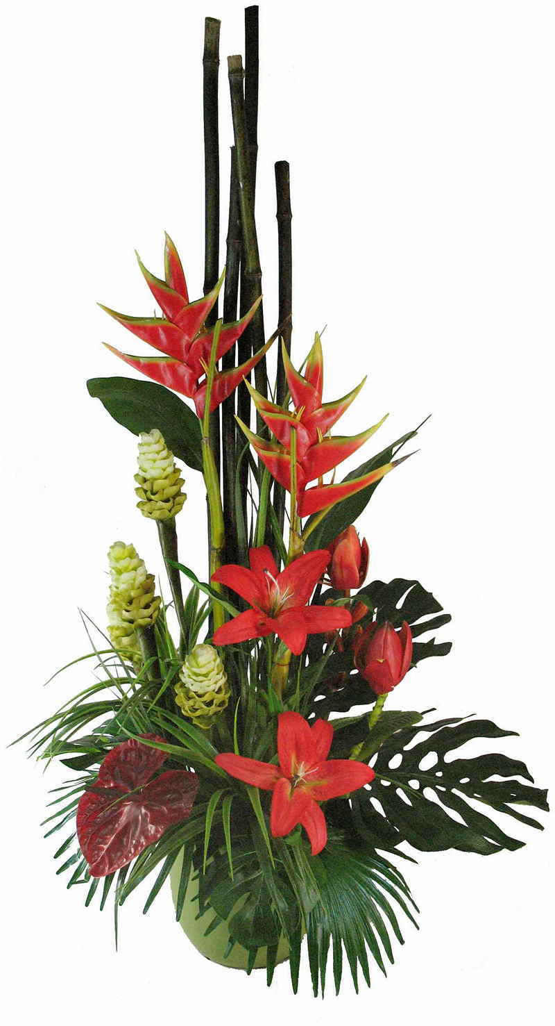 Articial Plants - Tropical Floral- heliconias