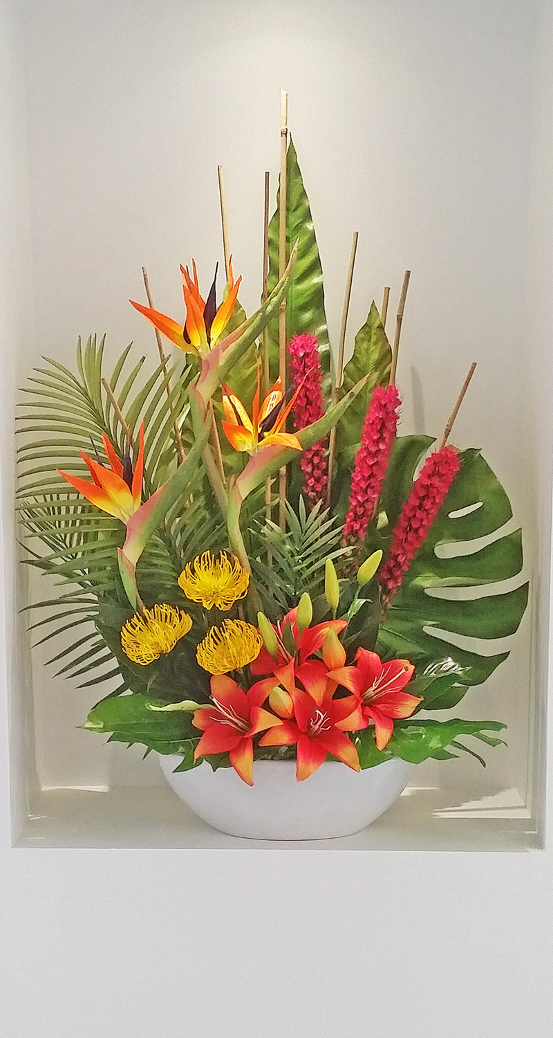 Articial Plants - Floral-Tropical in fan shape 90cm
