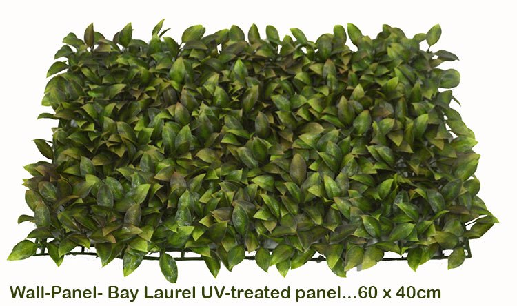 Articial Plants - Wall-Panels Bay Laurel UV panel x4 [approx 1m2]
