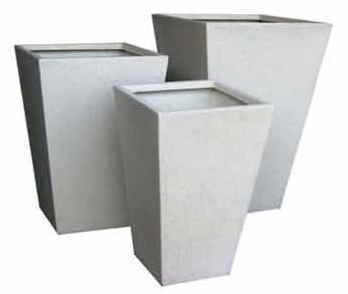 Articial Plants - Planters- terrazzo-lite Tapered Square large