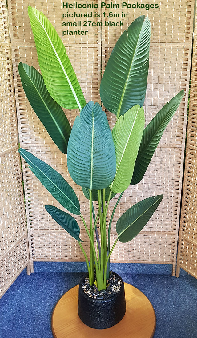 Articial Plants - Packages- Heliconia Palm 1.9m in planter
