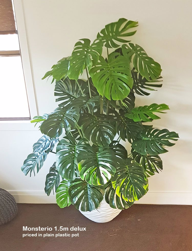 Articial Plants - Monsterio 'giant leaf' 1.8m delux