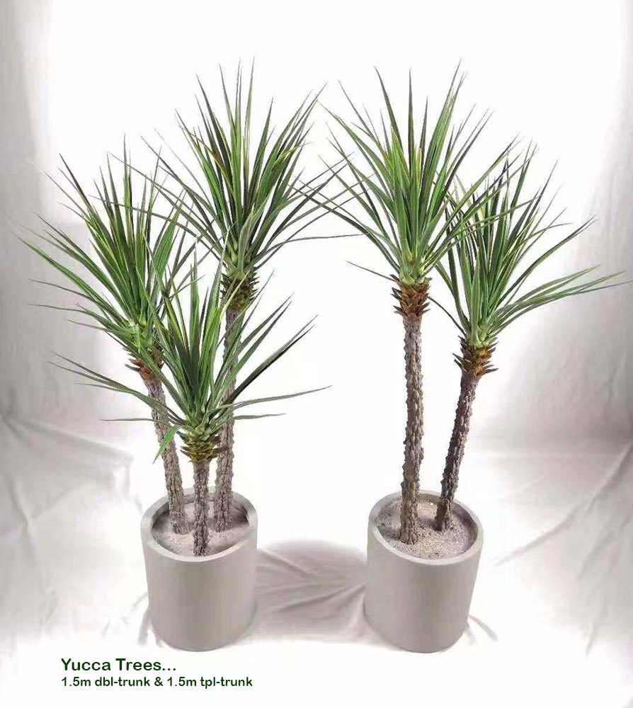Articial Plants - Yucca Tree 1.3m x 2 trunks