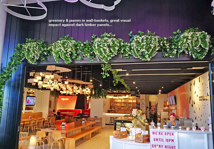 Artificial Greenery for VISUAL IMPACT in restaurant