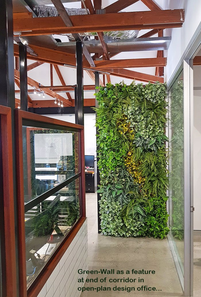 Green-Wall for modern open-plan office...