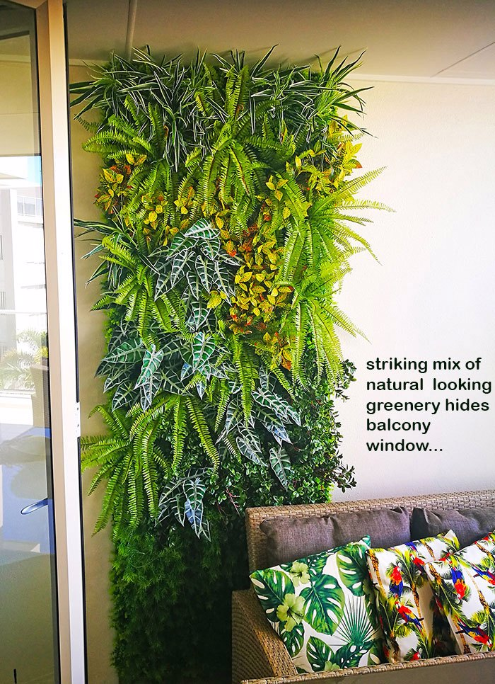 Green-Wall to hide an unwanted balcony window...