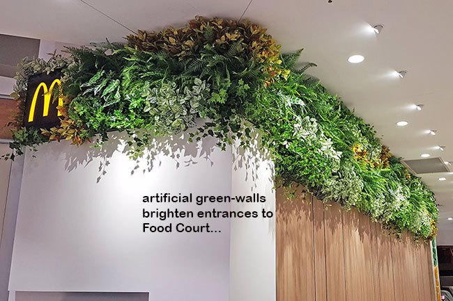 Green-Walls brighten up Food Court entrance in Shopping Mall...