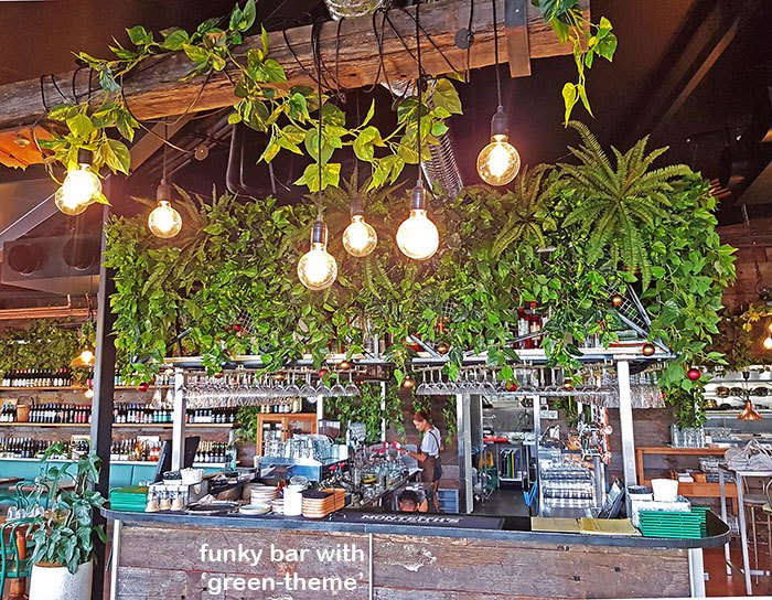Green-Theme for funky urban bar